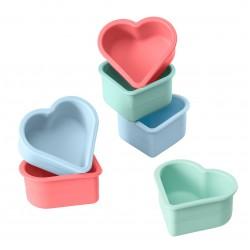 Flexiform set van 6 muffinvormen hart