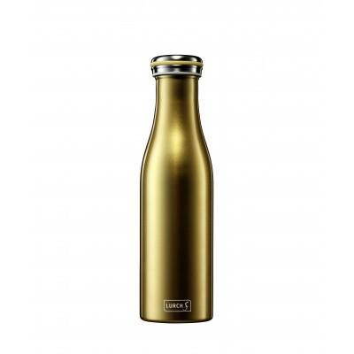 Dubbelwandige isoleerfles uit rvs metallic gold 500ml  Lurch