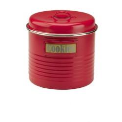 Vintage koektrommel rood ø 19.5cm