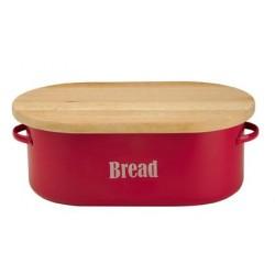 Vintage broodtrommel rood