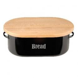 Vintage broodtrommel zwart