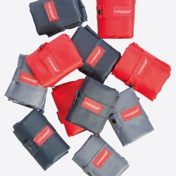 opvouwbare boodschappentas rood, donkerblauw of grijs 60x45cm (36st/disp.)