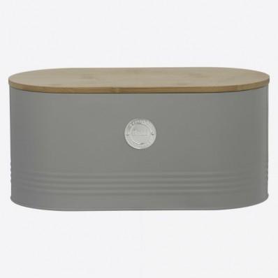 Living broodtrommel grijs 34x18x15cm