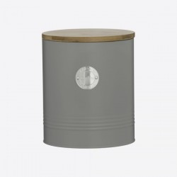 Living koektrommel grijs ø 16cm H 19cm  Typhoon