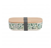 Pure lunchbox uit bamboevezel Green Is The New Black 22x11x6cm