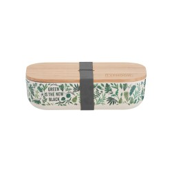 Pure lunchbox uit bamboevezel Green Is The New Black 22x11x6cm  Typhoon