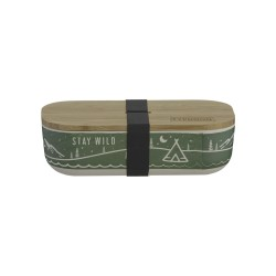 Pure lunchbox uit bamboevezel Stay Wild 22x11x6cm  Typhoon