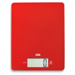 Leonie Elektronische Keukenweegschaal rood 17x22cm