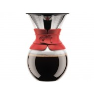 Koffiezetapparaat pour over rood