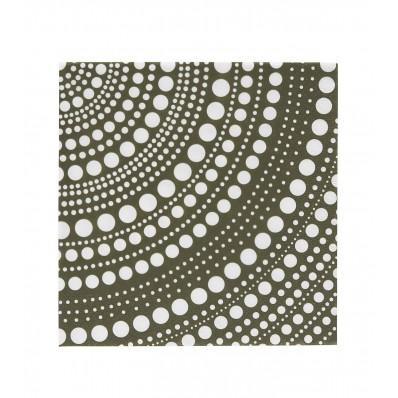 Kastehelmi paper napkin 33cm moss green