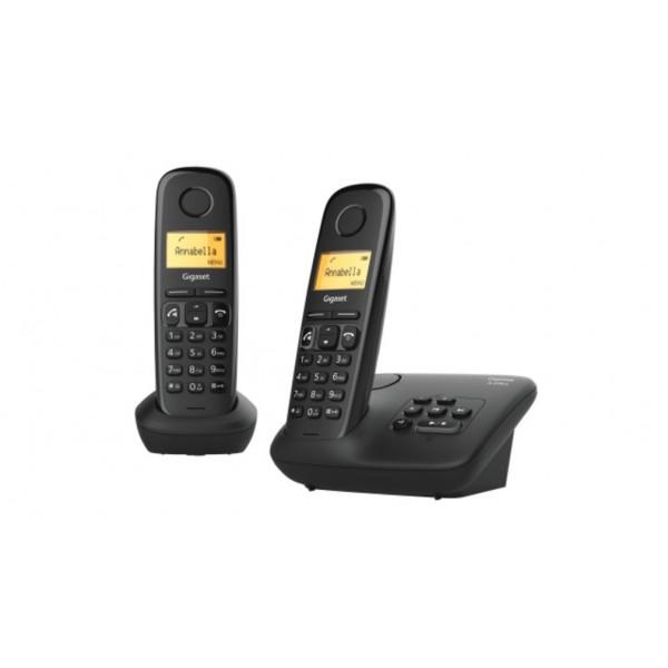 Gigaset Draagbare telefoon (DECT) A270A Duo Zwart