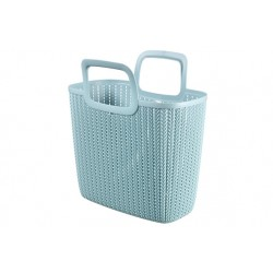 KNIT LILY SHOPPING BAG MISTY BLUE