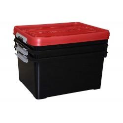 HANDY PLUS S3 BOX ZWART-DEKSEL ROOD 35L  Curver