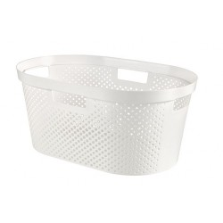 INFINITY RECYCLED WASMAND DOTS 40L WIT  Curver