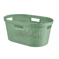 INFINITY RECYCLED WASMAND DOTS 40L GROEN  Curver
