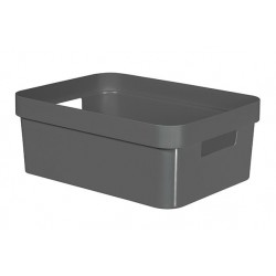 INFINITY RECYCLED BOX 11L DONKERGRIJS  Curver