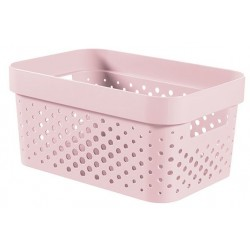 INFINITY RECYCLED BOX 4,5L DOTS ROZE  Curver