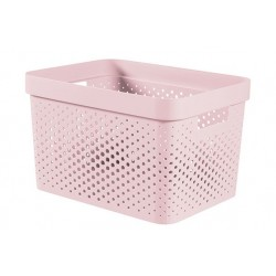 INFINITY RECYCLED BOX 17L ROZE 35,6X26,6  Curver