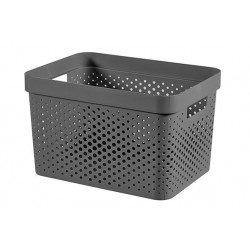 INFINITY RECYCLED BOX 17L DONKERGRIJS  Curver
