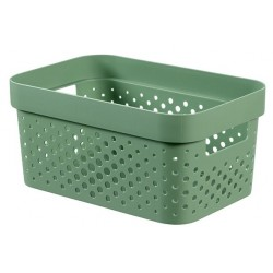 INFINITY RECYCLED BOX 4,5L DOTS GROEN  Curver
