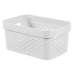 INFINITY RECYCLED BOX 4,5L DOTS WIT  Curver