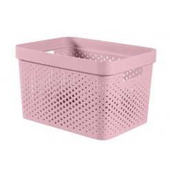 INFINITY RECYCLED BOX 17L DOTS ROZE  Curver