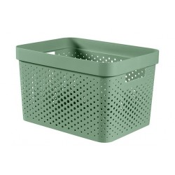 INFINITY RECYCLED BOX 17L DOTS GROEN  Curver