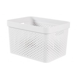 INFINITY RECYCLED BOX 17L DOTS WIT  Curver