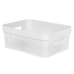 INFINITY RECYCLED BOX 11L DOTS WIT  Curver