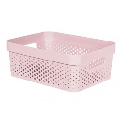 INFINITY RECYCLED BOX 11L DOTS ROZE