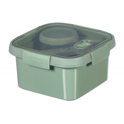 Smart To Go Eco Lunchbox1.1l Bestekset Sauscup 16.2x16.2x8.8cm  Curver