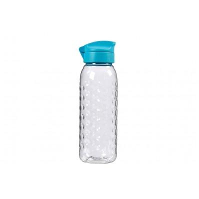 Smart To Go Fles 450ml Transparant-blauwdeksel D6.5xh20cm