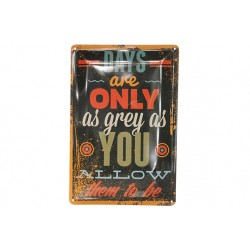 OPHANGBORD METAAL DAYS ARE ONLY 30X20CM  Cosy & Trendy