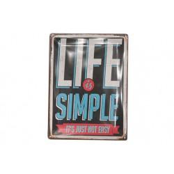 OPHANGBORD METAAL LIFE IS SIMPLE 39.4X  Cosy & Trendy
