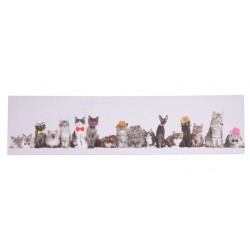 CANVAS CATS IN A ROW 120X3XH30CM  Cosy & Trendy