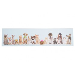 CANVAS DOGS AND CATS IN A ROW 120X3X  Cosy & Trendy