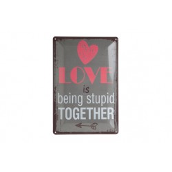 OPHANGBORD METAAL LOVE IS BEING STUPID  Cosy & Trendy