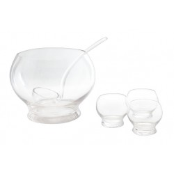 PUNCH BOWL SET 6  INCL 1 BOWL-4 KOPJES