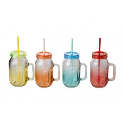 COUNTRY STYLE BOKAAL 4ASS GEKLEURD GLAS