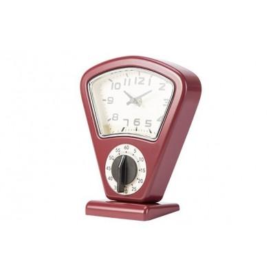Timer En Uurwerk Rood 17,5x10xh21cm