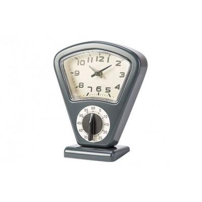 Timer En Uurwerk Grijs 17,5x10xh21cm