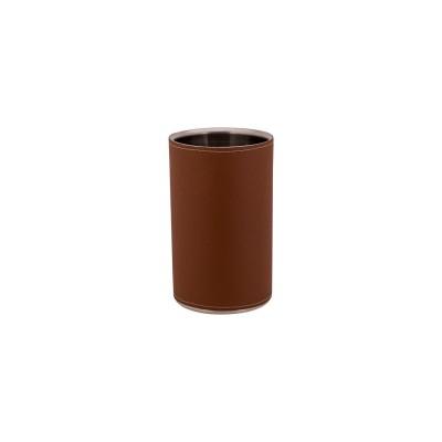LAHORE WIJNKOELER INOX-BRUIN LEDER D12XH