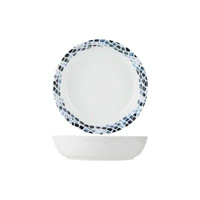 Mosaic Blue Pastabord D21,5xh5,3cm