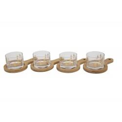 APEROSET 8 DELIG 4 GLAS MET 4 PLANKJES