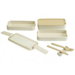 ECO-FIBRE 3LAAGS LUNCHBOX WIT MES  Cosy & Trendy