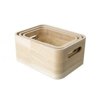 OPBERGBOX SET3 PLN HOUT 21X16X10 19X14X8