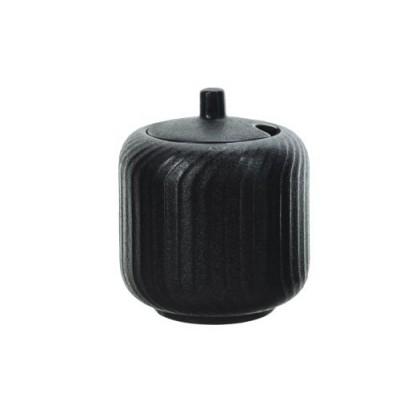 DAKOTA BLACK SUIKERPOT D8,5XH10,5CM  Cosy & Trendy