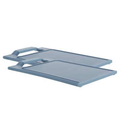 Snijplank Set2 Blauw 25x15xh1,7cm Kunststof