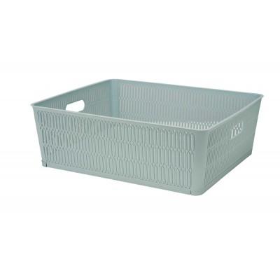 Opbergmand Groen 12l Stapelbaar & Nestbaar 38.1x33xh12.7cm  Cosy & Trendy