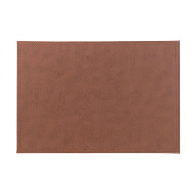 PLACEMAT LEATHERLOOK ROOD-BRUIN  43X30CM